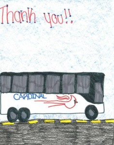 Cardinal Buses - Thank You Artwork