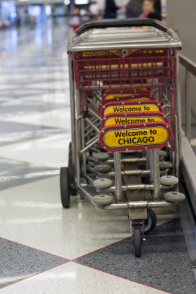 O'Hare baggage cart