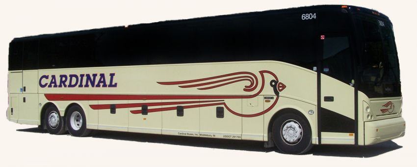 Lift Equipped Charter Bus