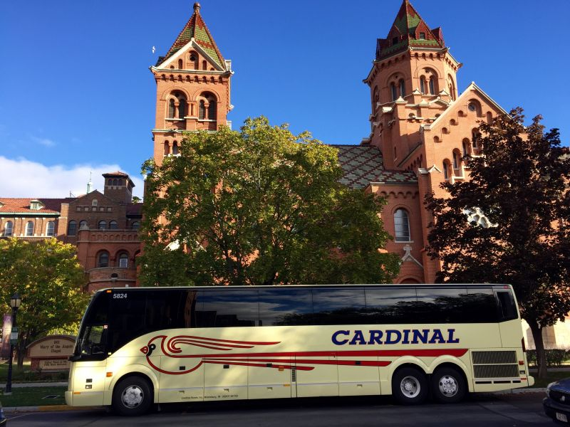 Cardinal Buses at Mary of Angels in Lacrosse WI