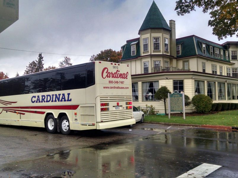 Cardinal Buses at Stafford's Bay View Inn in Petosky MI