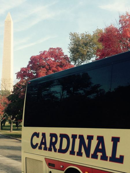 Cardinal Buses at Washington Monument