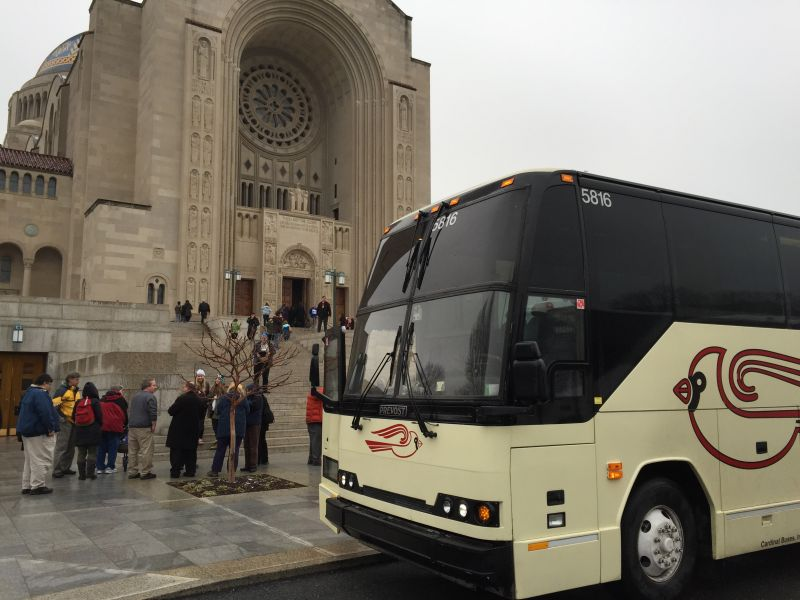 Cardinal Buses at National Shrine